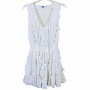 Alya White Eyelet Dress Bohemian Tiered Ruffles